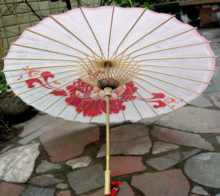Dia 84cm chinese peony painting oiled paper umbrella  waterproof parasol decoration props dance gift women rain umbrella dia 84cm handmade chinese classical blue dream rose painting waterproof parasol decoration gift dance props oiled paper umbrella