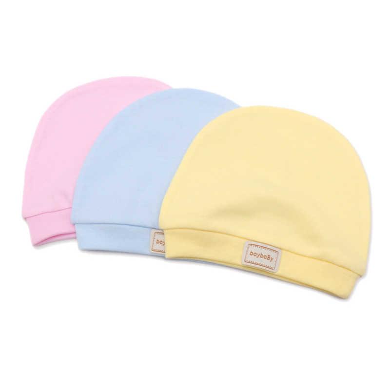 Reusable หมวกเด็กน่ารักหมวกหมวก Bibs Candy สีทึบเด็ก Beanies หมวกผ้าฝ้ายเด็กทารกหมวก Bibs