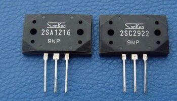 Горячая распродажа 10 пар/30 пар Оригинальный Новый Sanken усилитель мощности на трубке 2SA1216/2SC2922 P/Y стерео пара Транзистор Бесплатная доставка