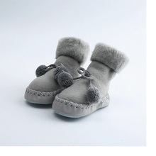 2019 Baby Anti Slip Socks Learning To Walk Cotton Baby Socks Infant First Walkers Toddler Indoor Floor Shoes Warm Fluff Socks