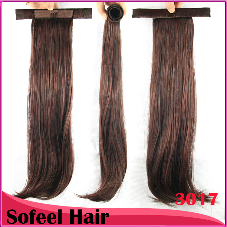 9 Colors Straight Ponytails With Hair Band Synthetic Hair Ponytail