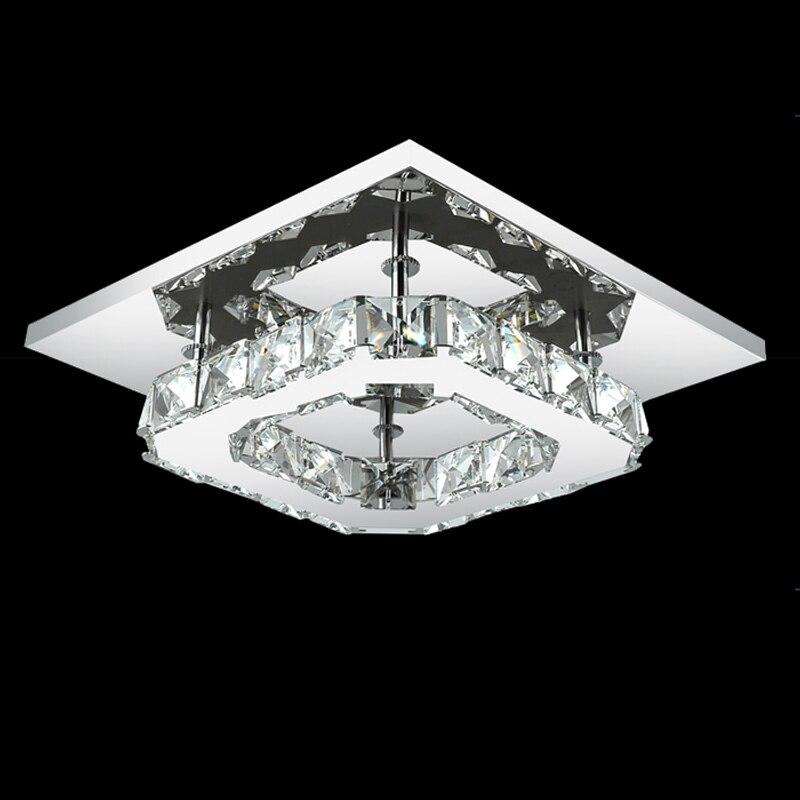 Square Led Crystal Chandelier Light For