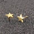 Серьги Jisensp, серьги в виде звезд, черные серьги из нержавеющей стали для женщин, крупные ювелирные изделия, оптовая продажа