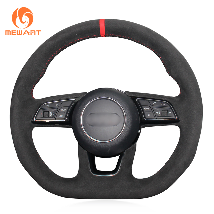 2018 Audi Rs 3 Interior: MEWANT Black Suede Car Steering Wheel Cover For Audi A3