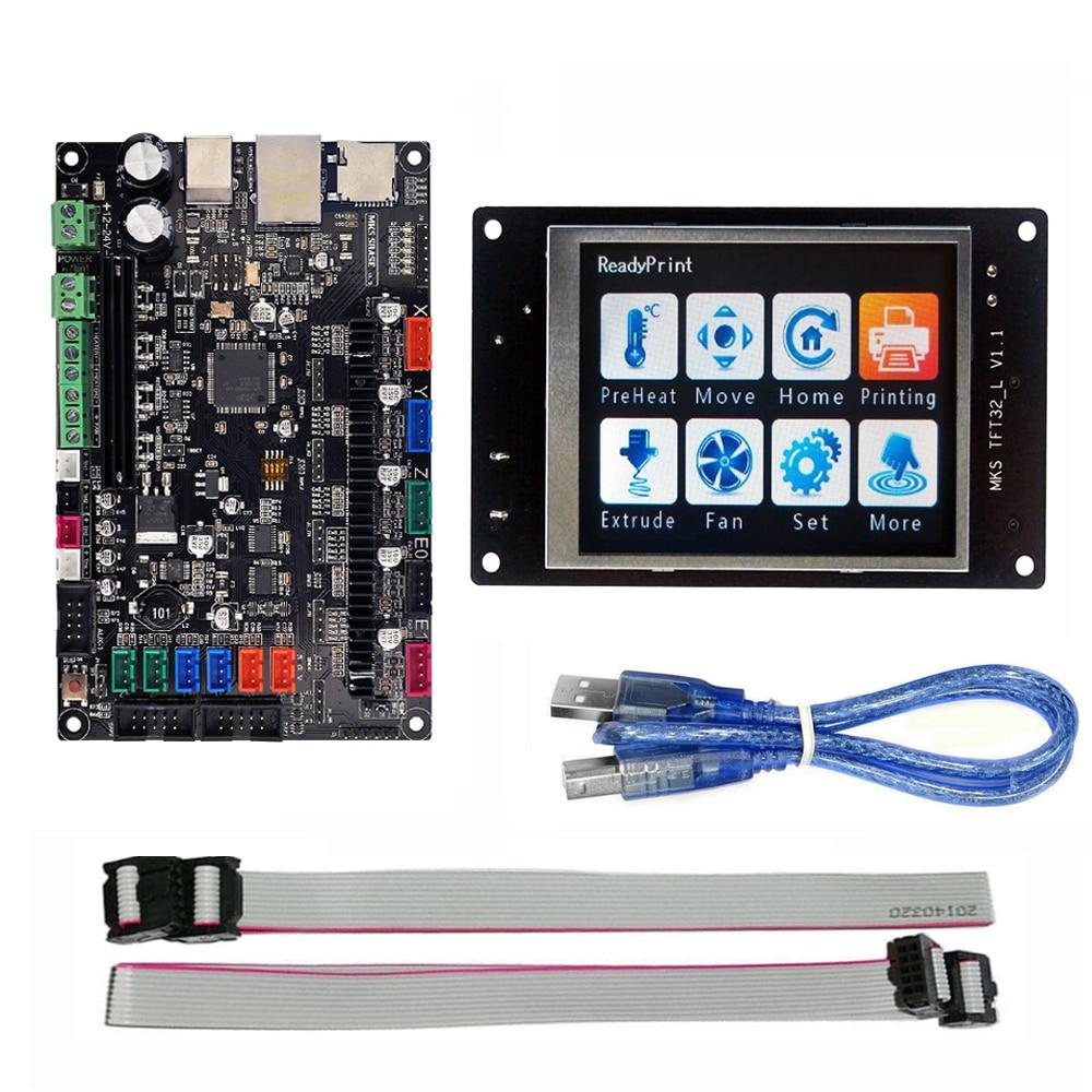 MKS bāze 3D printeris 32bit Arm platforma Gluda vadības panelis MKS SBASE V1.3 + MKS TFT32 3.2 '' LCD skārienjūtīgais displejs