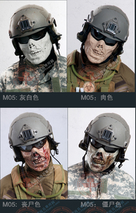 Image 5 - Horror Zombie Half Face Resin Mask For Halloween Masquerade Cosplay 4 Colors Outdoor CS Tactical Protective Mask