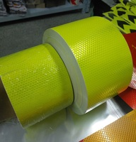 10CM Automobile Car Motorcycle Decoration Self adhesive Reflective Warning Tape Fluorescent Yellow Reflective Safety Sticker