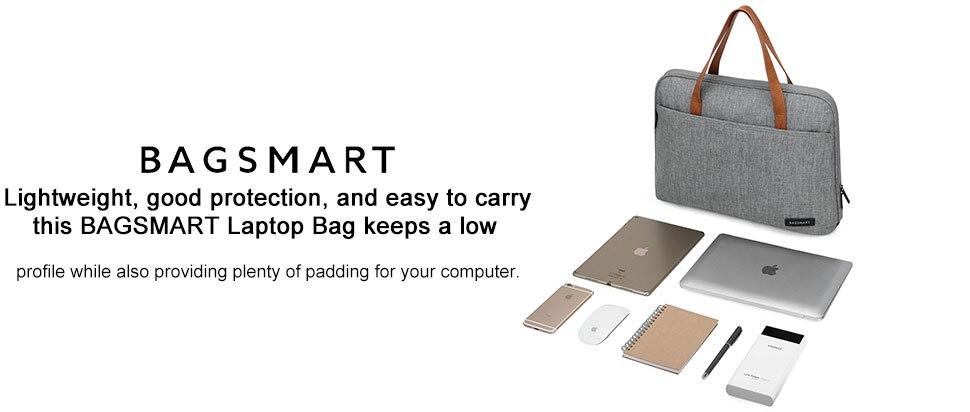 ef6ed84cc7 BAGSMART New Fashion Nylon Men 14 Inch Laptop Bag Famous Brand Shoulder Bag  Messenger Bags Causal Handbag Laptop Briefcase Male