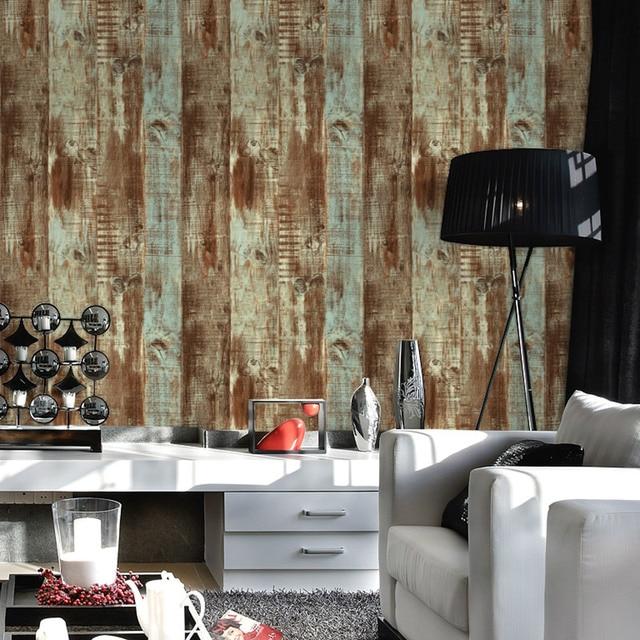 US $28.88 24% OFF|Beibehang Stereo Retro Chinesischen Stil Holz Tapeten  Wohnzimmer Tee House Cafe Studie TV Hintergrund Tapete papel de parede in  ...