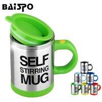 BAISPO 400 ML Copo de Mistura de Aço Inoxidável Atualizado Automática Copo de Mistura de Café Automática Caneca de Café Creme de Mistura Inteligente
