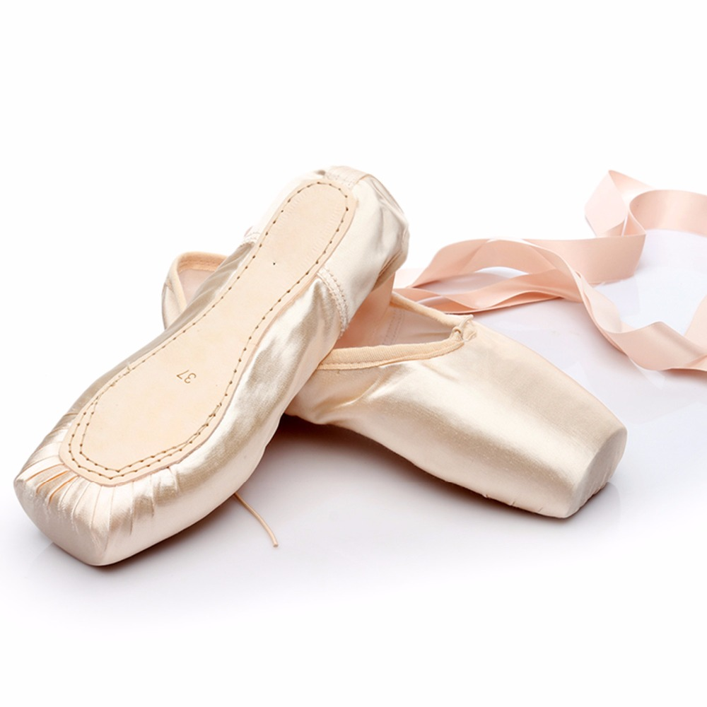 Women Girl Hard Sole Ballet Shoes Lady Children Flat Pointe Toe Dance Shoes Hot