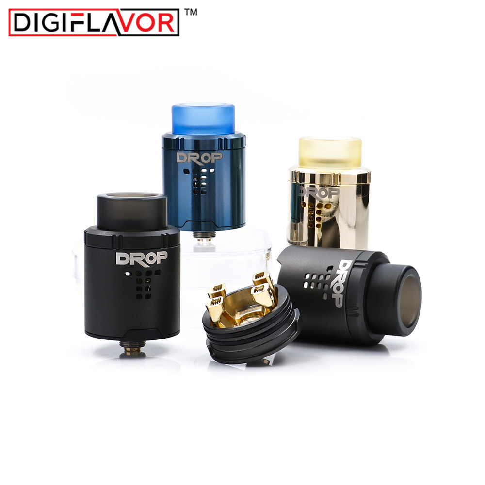 2PCS/Lot Best RDA Digiflavor DROP RDA electronic cigarette tank atomizer fit geekvape gbox mod and voopoo drag pk Mesh plus RDA