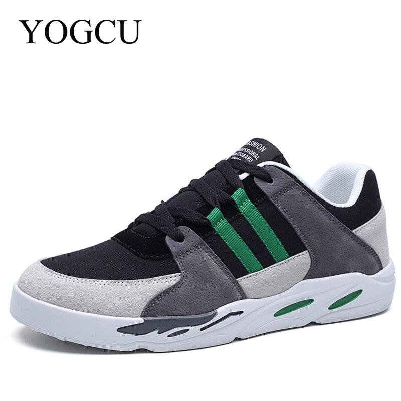 YOGCU Men Running Shoes Men Sneakers Breathable Sport Shoes Men Gym Trainers 2018 Tennis Jogging Arena Zapatillas Size 9.5