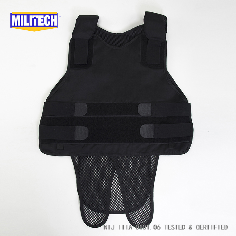 Safety Clothing Security & Protection Militech White Nij Iiia 3a And Level 2 Stab Concealable Twaron Aramid Bulletproof Vest Covert Ballistic Bullet Proof Vest