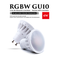 New 110V 220V 4W GU10 RGBW LED Dimmable 2 4G Wireless Led Bulb Led Spotlight Smart