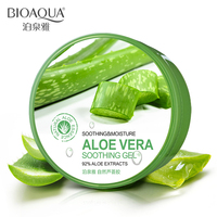 BIOAQUA Natural Aloe Vera Smooth Gel Acne Treatment Face Cream For Hydrating Moist Repair After Sun