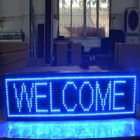 6.22x31.4 inch Wifi Draadloze Afstandsbediening Scrolling LED Sign  Storefront Prikbord  Open Teken Programmeerbare Scrolling Display-Blauw