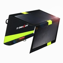 Outdoor Portable Solar Panel Charger 5V 20W Dual USB Solar Charger for iPhone iPad Samsung Huawei Xiaomi HTC Sony LG and more.