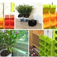 Вертикальный садовый цветочный горшок и кашпо, подвесные горшки для растений на стене