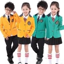 7c6ef2686 جديد الأطفال ملابس المدرسة موحدة طويلة الأكمام الخريف الشتاء الدعاوى أداء  جوقة الابتدائية الطلاب القراءة الطالب