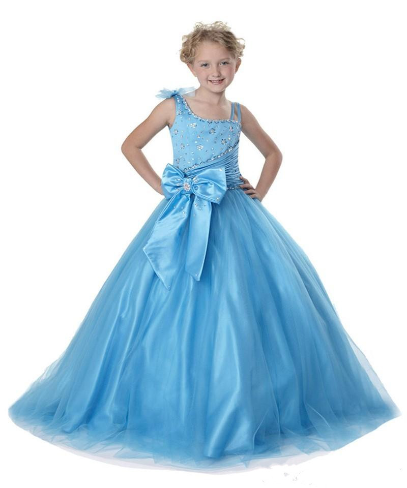 Luxury Crystals Beaded Pageant Gowns for Little Girls Ruffles Ankle Length Flower Girl Dress Little Princess Formal Dress ems dhl free shipping toddler little girl s 2017 princess ruffles layers sleeveless lace dress summer style suspender