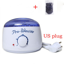 New EU/ US Plug Warmer Wax Heater 1* No Strip Hair Removal Bean 100g Professional For Unisex T