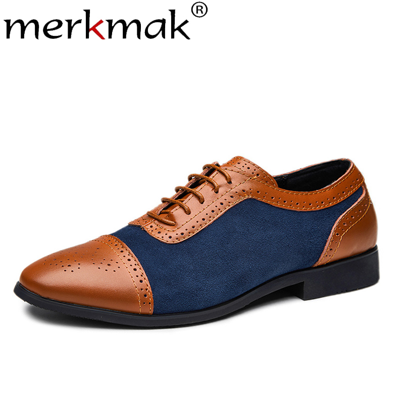 eb5bc5c71b2685 38 Oxfords Polka Hommes Taille Mode Dot Appartements 48 Élégant Shoes Homme  brown Grande Black Pointu Cuir En Dress blue Habillées ...