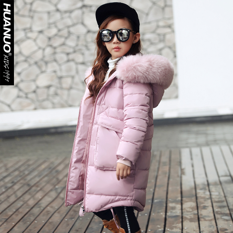The girl child in the new winter cotton padded thick fur collar product release in the winter 2016 the original design printing 100% cotton linen loose big yards women cotton padded clothes