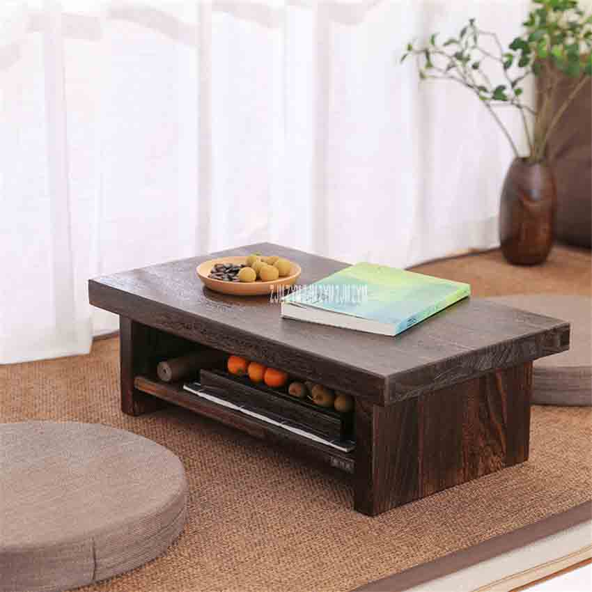 New Tatami Small Coffee Table Japanese Style Solid Wood Antique Tea ...