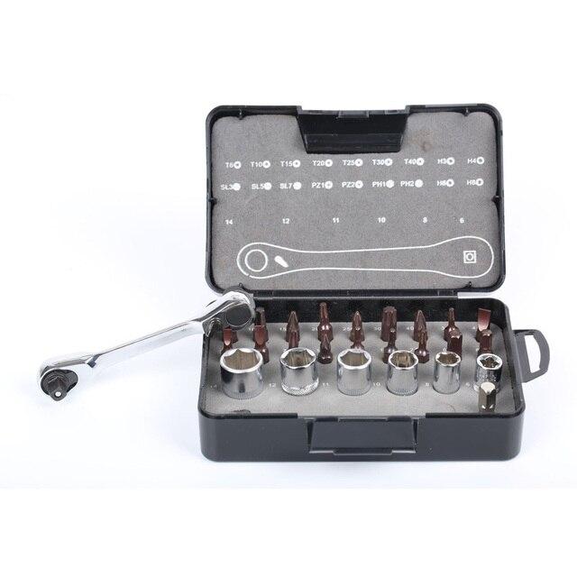 25 w 1 zestaw części z grzechotką podwójna głowica 72 koła zębate klucz klucz rękaw zestaw wkrętaków zestaw narzędzi ręcznych