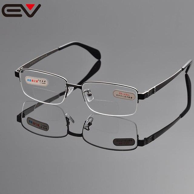 Очки для чтения Мужчины Зеркальные Очки Для Чтения Для Осмотра Без Оправы Бифокальные Очки Для Чтения + 1.0 + 1.5 + 2.0 + 2.5 + 3.0 + 3.5 + 4.0 EV1043