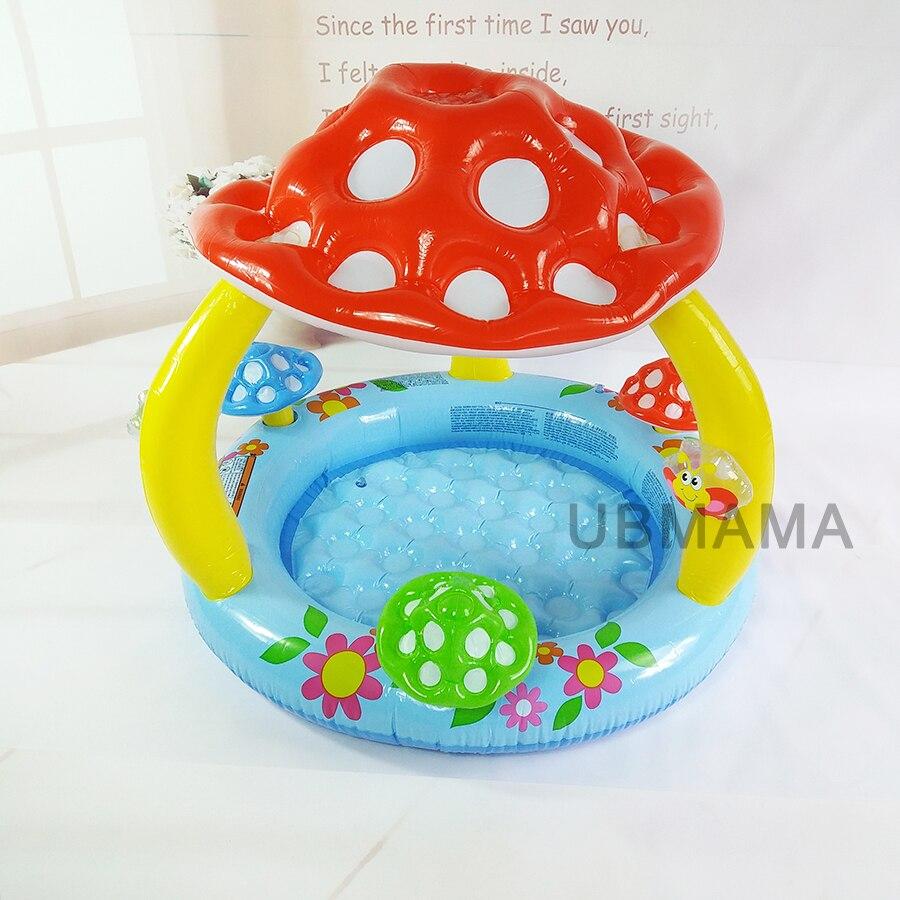 Piscine gonflable pour enfants avec auvent pour bébé bassin de piscine champignon piscine pour bébé piscine de jeux d'eau pour enfants - 2