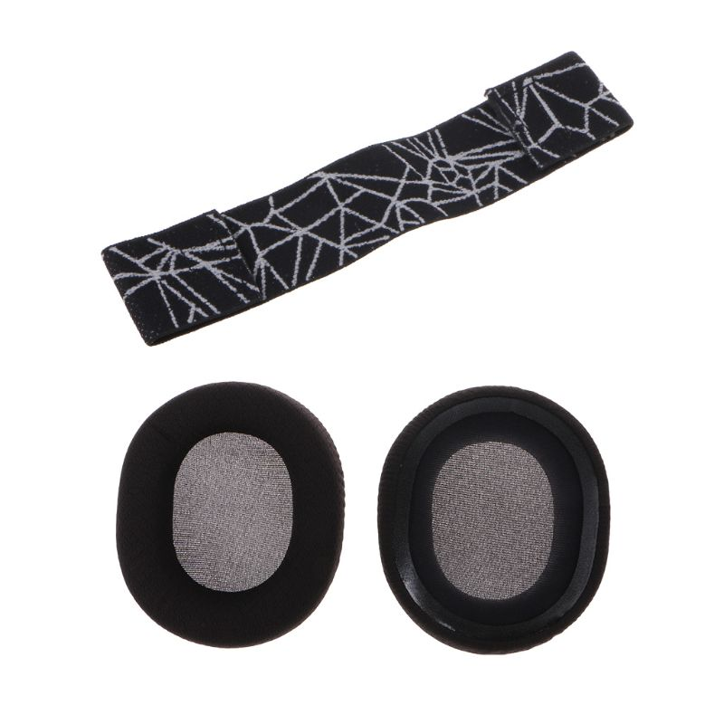 Foam Earpads Ear Pads Sponge Cushion Replacement Elastic Head Band Headband For SteelSeries Arctis 3/5/7 Gaming Headset  F42D