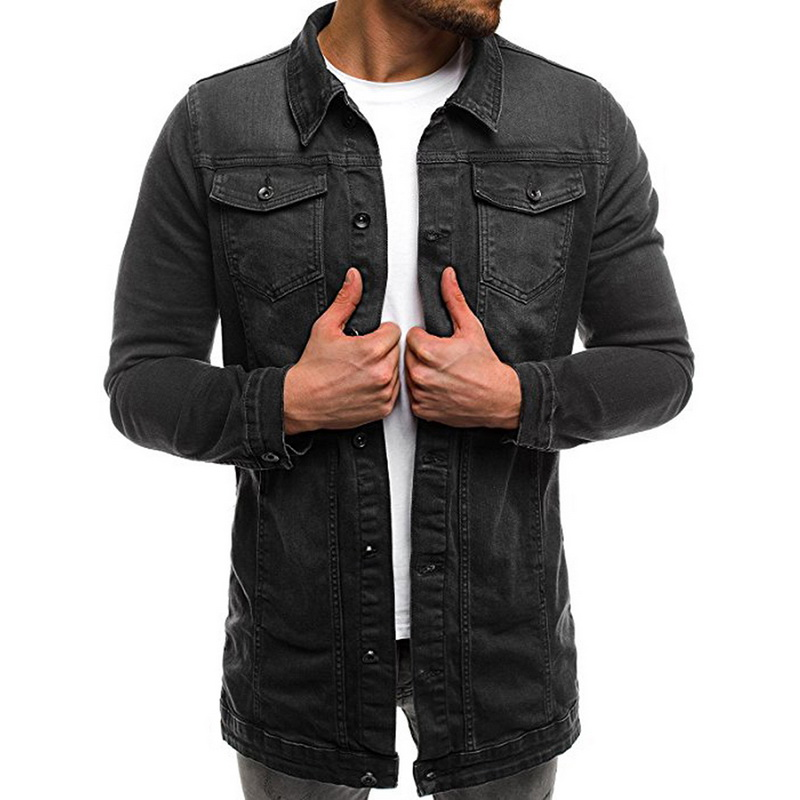 Men's Jackets Coat Male Autumn Casual Fashion High-Quality Denim Solid Hip-Pop Brand-New