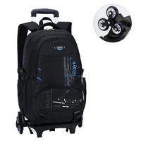 Latest Removable Children School Bags With 3 Wheels Stairs Kids Boys Girls Trolley Schoolbag Luggage Book