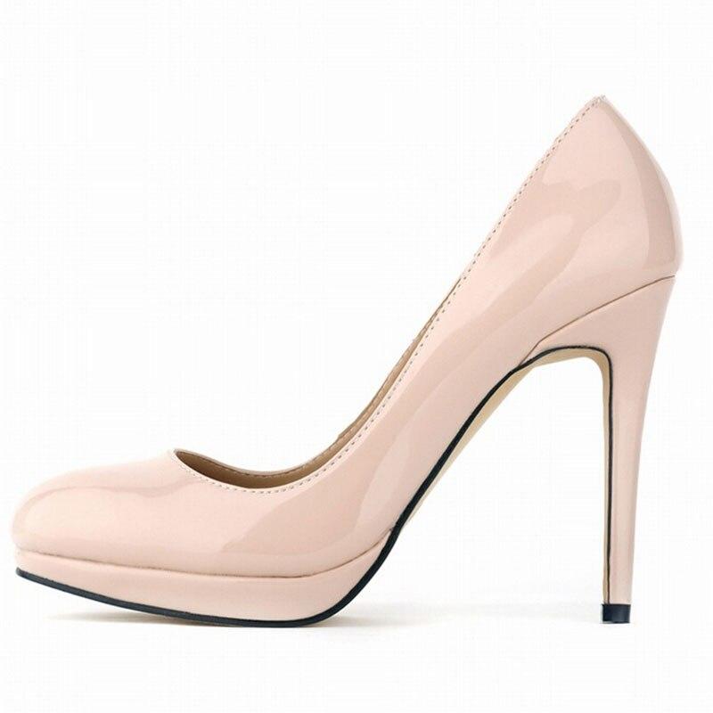 grand choix de bb55c 079c2 € 33.89 26% de réduction Grands Chantiers Talon Mince Pompes Femmes Talons  Hauts Semelle Rouge Chaussures En Cuir Noir Bout Pointu Chaussures à talons  ...