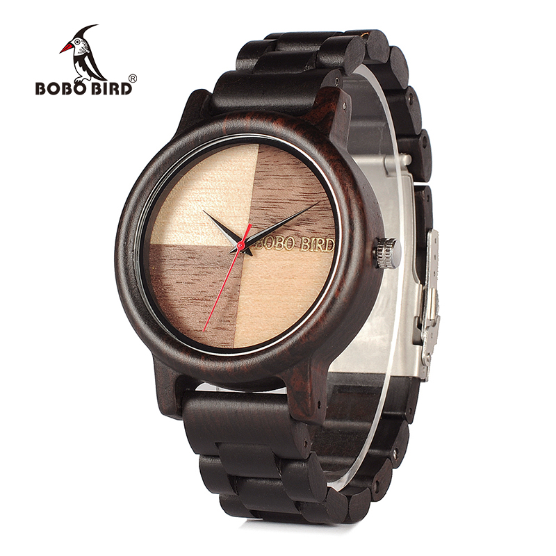цена на BOBO BIRD 2017 New Arrival V-N07 Mens Watches Top Brand Luxury High Quality All Wood Quartz Wristwatch in Gift Box Relogio