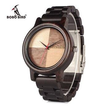 Bobo pássaro V-N07 relógios dos homens marca superior de luxo alta qualidade toda madeira quartzo relógio pulso na caixa presente relogio