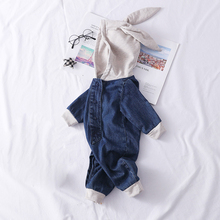 IYEAL Infant Boys Baby Romper Little Girl Denim Cartoon Hooded Jumpsuit Kids Baby Clothes Children Toddler Outfits стоимость