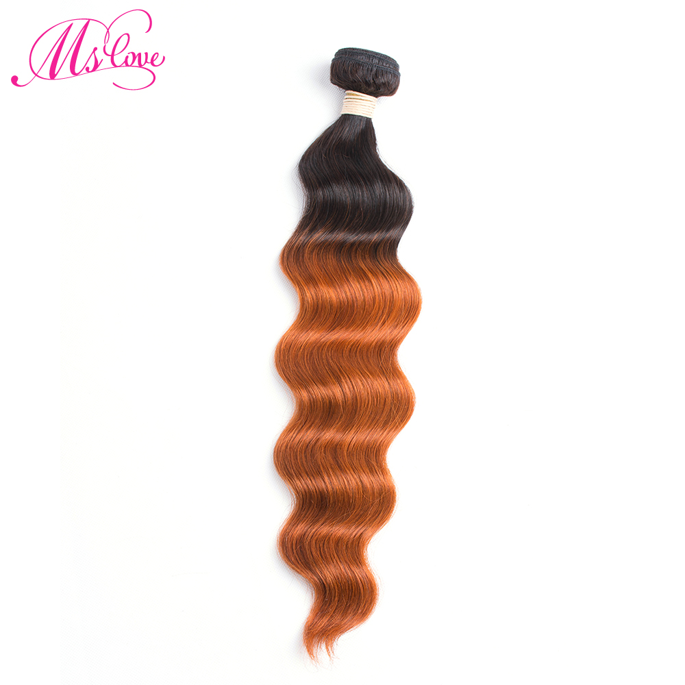 Tireless Ms Love Ocean Wave Hair Bundle T1b 350 Ombre Brazilian Hair Weave Non Remy Orange Human Hair Extension 100 Gram Per Bundle Durable Service Hair Weaves Human Hair Weaves