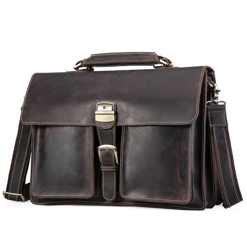 2018 Men Casual Briefcase Business Shoulder geniue Leather Bag Men Messenger Bags Computer Laptop Handbag Bag Men's Travel Bags 2017 men casual briefcase business shoulder bag genuine leather messenger bags computer laptop handbag bag men s travel bags