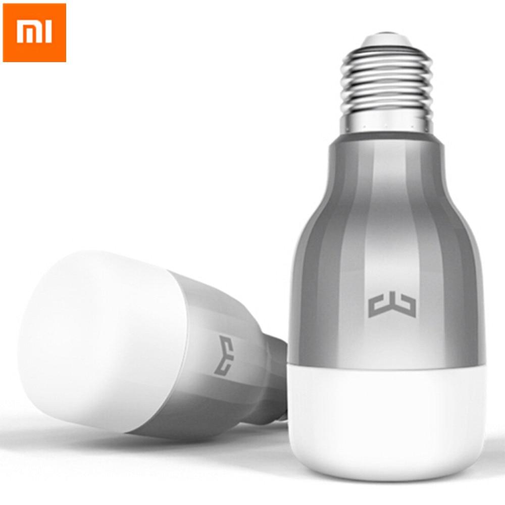 5 pcs d'origine xiaomi yeelight led smart lumière e27 9 w 600 Lumens RGB Ampoule Wifi Smart Control Coloré Lampe Pour Smart maisons