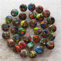 (Min. Order is $10)1Strand Beautiful 10mm Rainbow Sea Sediment Stone & Pyrite Round Loose Bead 15.5inch S44