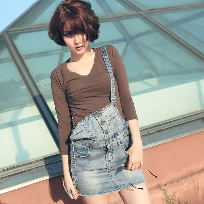 NEW 2015 summer jean skirts womens fashion denim skirt ladies ...