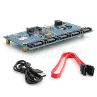 BGEKTOTH SATA 1 to SATAII/SATA2 5 Port Multiplier Converter Riser SATA 3.0 Card Adapter Card