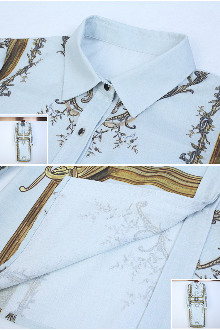 Designer Runway Suit Set Women's Sets Long Sleeve Shirt Tops + Print Skirt suit 2 Two piece set 9