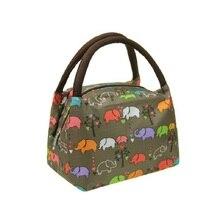 Small Makeup Cosmetic Bag with Handles, Cute Make Up Cololful Patterns Waterproof Oxford Handbag