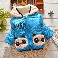 BibiCola novo bebê Meninas Parkas inverno Panda Dos Desenhos Animados de algodão com capuz Casacos Casacos crianças Casaco Quente Crianças Outerwear Roupa Bonito