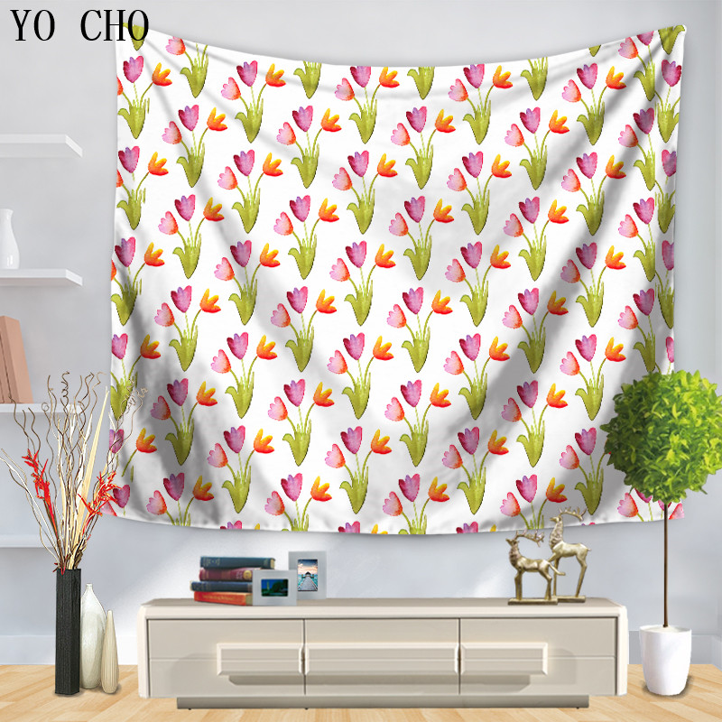 Yo Cho Super Fresh Flower/leaf Tapestry Clean Warm Home Decor Wall Hanging Flores Tapestry Mandala Arazzo Indian Dorm Cover Yoga Warm And Windproof Home & Garden Carpets & Rugs