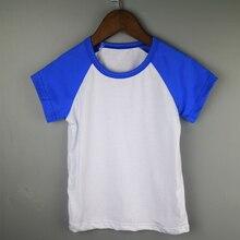 Королевский синий спортивный стиль тройник бейсбол рубашка дети дети рубашки реглан пустой реглан бейсбол футболки детские летние тройники